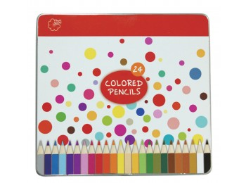 F-CP21-24_Colored Pencils Tin Set of 24 Assorted Colors