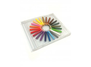 M-CP42-24_Mini Colored Pencils in CD Case